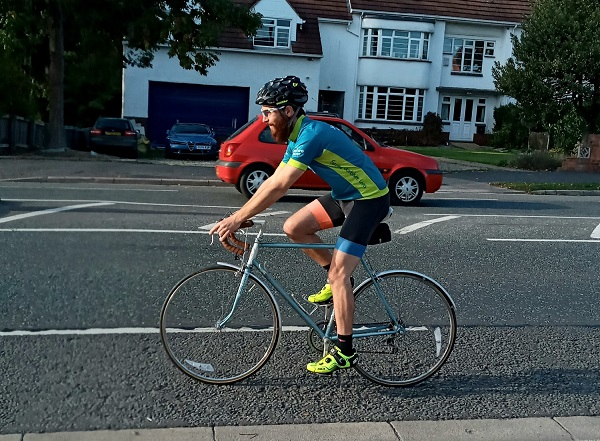 Arik completing the Virtual Three Swans Sportive