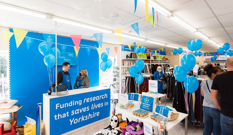 Inside the Yorkshire Cancer Research shop in Ripon