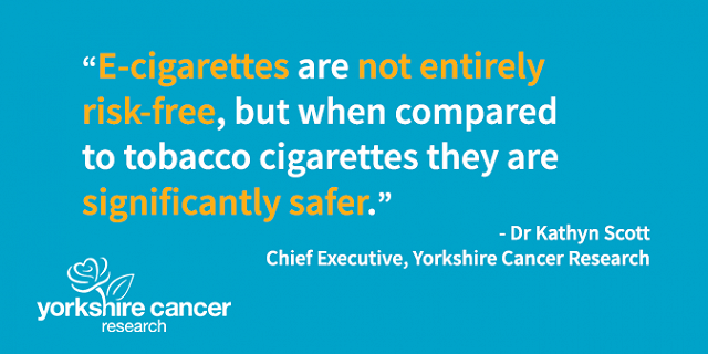 E-cigarettes are not entirely risk free, but when compared to tobacco cigarettes, they are significantly safer