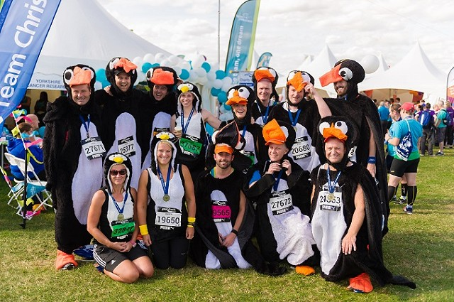 A group of runners after the Great North Run